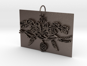 Winter Charms in Polished Bronzed Silver Steel