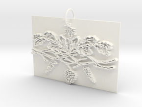 Winter Charms in White Processed Versatile Plastic