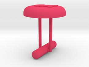 Cufflink Pound Sterling in Pink Processed Versatile Plastic