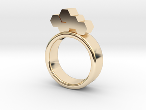 Honeycomb Ring in 14K Gold