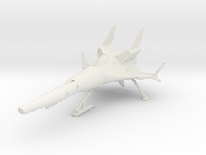 TA02A SR5 w/landing gear in White Natural Versatile Plastic