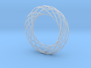 Voronoi Bracelet 2 in Smooth Fine Detail Plastic