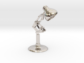 Pixar Lamp in Rhodium Plated Brass