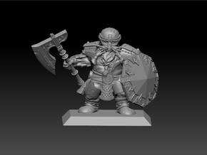 Dwarf Warrior 35mm Nº 1 in Frosted Ultra Detail