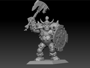 Orc Warrior 35mm Nº3 in Smooth Fine Detail Plastic