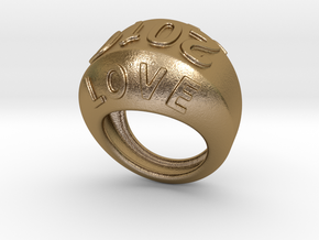 2016 Ring Of Peace 25 - Italian Size 25 in Polished Gold Steel