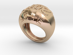 2016 Ring Of Peace 29 - Italian Size 29 in 14k Rose Gold Plated Brass