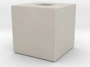 Cube Vase in Natural Sandstone
