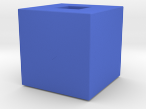 Cube Vase in Blue Strong & Flexible Polished