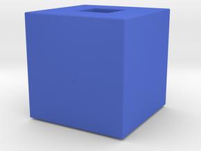 Cube Vase in Blue Processed Versatile Plastic