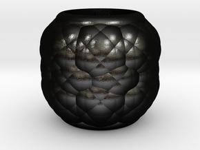 Alien Egg Ring Gamma 20mm in Matte Black Steel