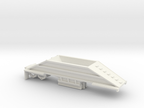 000400 Bottom dump trailer  in White Natural Versatile Plastic: 1:87 - HO