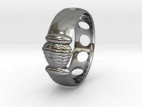 Alien Egg Ring Delta SIZE10 in Fine Detail Polished Silver
