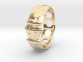 Alien Egg Ring Delta SIZE10 in 14k Gold Plated Brass
