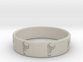 Scorpio Ring in Natural Sandstone
