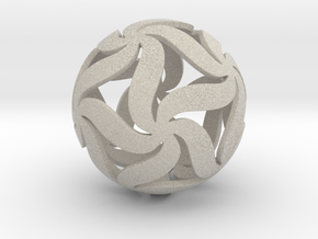 Star Ball Floral in Natural Sandstone