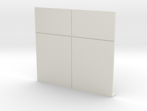 Blank Wall in White Natural Versatile Plastic