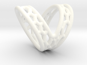 V-shape Finger splint Size10.5 ; Inner diameter 20 in White Processed Versatile Plastic