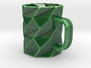 Coffee OctoMug - Low Poly Mug in Gloss Oribe Green Porcelain