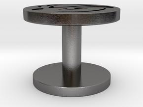 Cufflinks Lechuza in Polished Nickel Steel