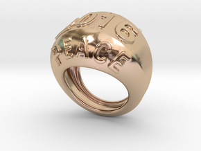 2016 Ring Of Peace 31 - Italian Size 31 in 14k Rose Gold Plated Brass