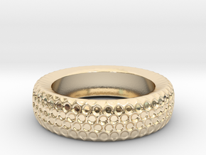 Circle Pattern Band - Size 12 3/4 in 14k Gold Plated Brass