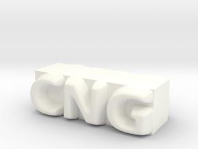 CNG Pendant in White Processed Versatile Plastic