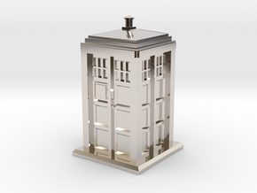 TT Gauge - Police Box in Rhodium Plated Brass