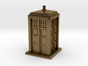 HO/OO Gauge - Police Box in Polished Bronze
