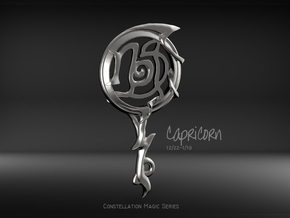 Capricorn[Constellation Magic Series] - Key Style in Fine Detail Polished Silver