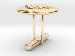 Cufflink Style 5 in 14k Gold Plated Brass
