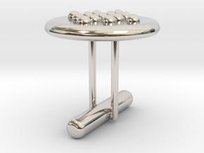 Cufflink Style 5 in Rhodium Plated Brass