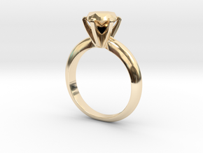 Diamond ring 'Big', size 7us (17,35mm) in 14K Yellow Gold