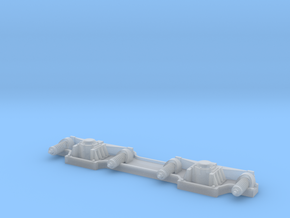PKP Mbxd1 H0e bogie in Smooth Fine Detail Plastic