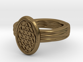 Lering Shamballah alfa in Polished Bronze
