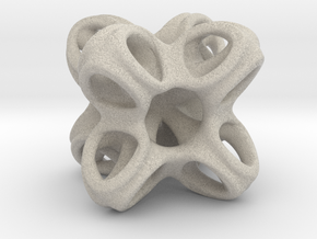 Octo Star Cube in Natural Sandstone