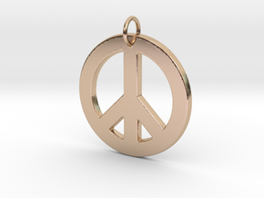 Peace Sign in 14k Rose Gold Plated Brass