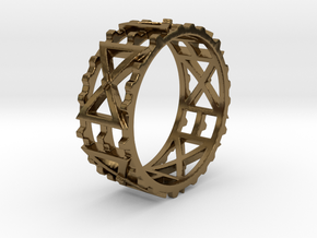 Zahnradkreuzchen Ring Size 11.5 in Polished Bronze