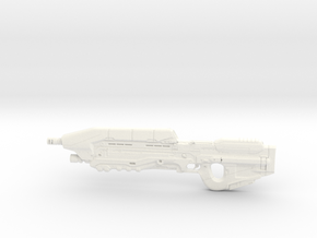Halo 5 Assault rifle 1/6 Scale in White Processed Versatile Plastic