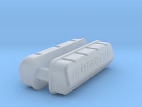 1/32 BBC 572 Logo Valve Covers in Smooth Fine Detail Plastic