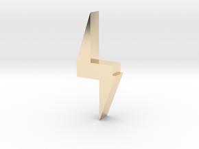 Lightning Bolt in 14K Yellow Gold