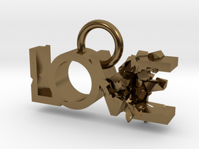 Broken Love in Polished Bronze