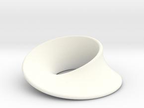 Minimal Mobius pendant (1 in) in White Processed Versatile Plastic