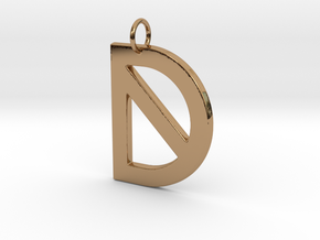 D in Polished Brass
