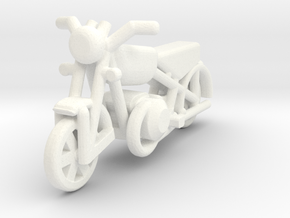 Motorcycle 1-87 HO Scale in White Processed Versatile Plastic