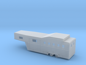 1/64th 28' 'Bloomers' type Horse Trailer in Smooth Fine Detail Plastic