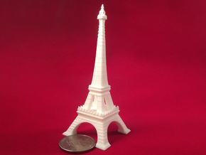 Eiffel Tower in White Natural Versatile Plastic