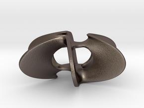 Trefoil Star Pendant in Polished Bronzed Silver Steel