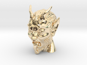 Krampus the Christmas Demon in 14k Gold Plated Brass