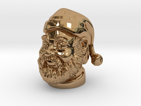 Santa Claus  in Polished Brass